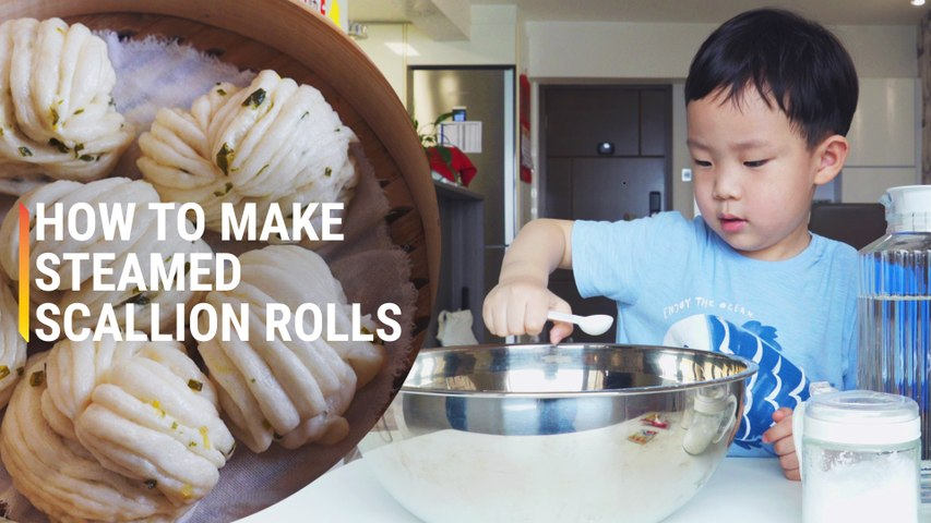 Fluffy Steamed Scallion Buns Even a Kid Can Make