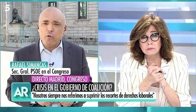 Tensa entrevista entre Simancas y Ana Rosa