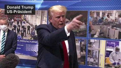 Trump trägt wieder keine Maske