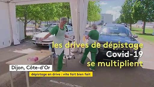 Covid-19 : A Dijon, un test en drive vite fait bien fait
