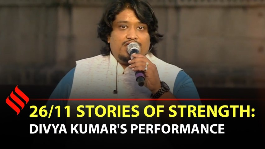 Divya Kumar performs with Navy band on 26/11 Stories of Strength event