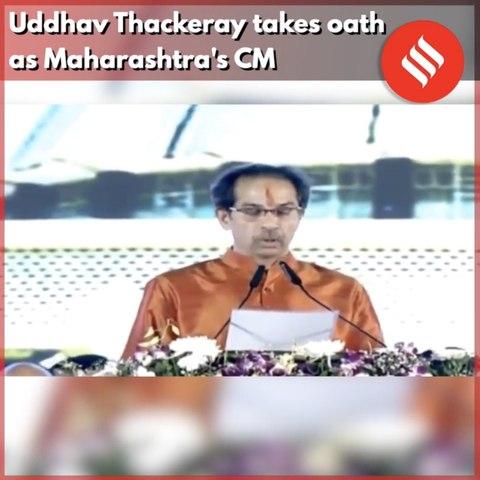 Uddhav Thackeray takes oath as Maharashtra's CM