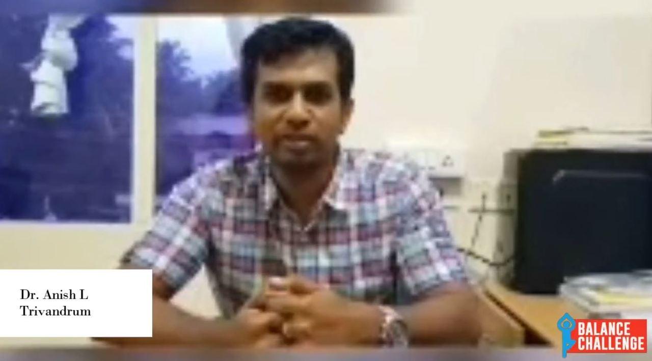 Dr. Anish L  On Balance Disorders