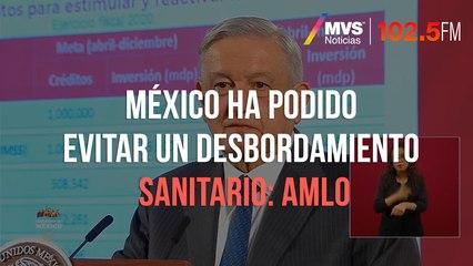 México ha podido evitar un desbordamiento sanitario: AMLO