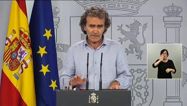"""Simón: """"Los datos de Cataluña tienen algunas incongruencias. Nos han preocupado mucho"""""""