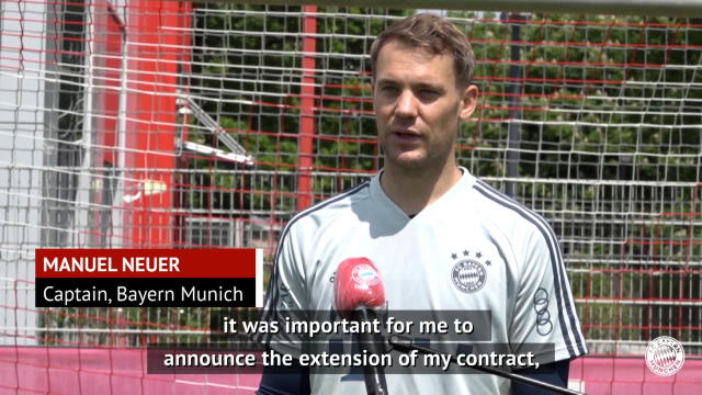 Neuer delighted to continue Bayern journey after contract extension