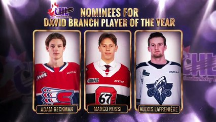 2019-20 CHL Award Finalists: David Branch Player of the Year