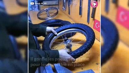 Ce père a recyclé ce vélo pour son fils handicapé