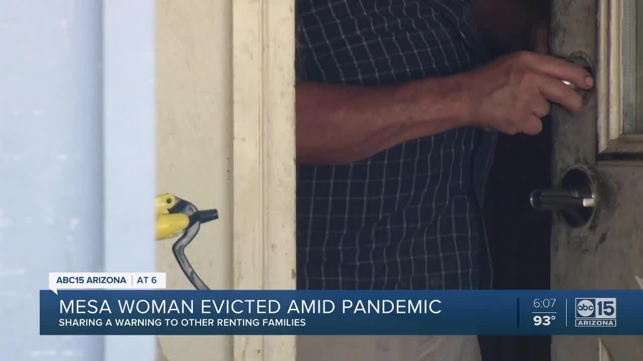 Mesa woman evicted amid coronavirus pandemic
