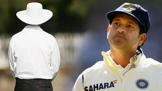 Sachin Tendulkar recalls poor umpiring in a match against Windies