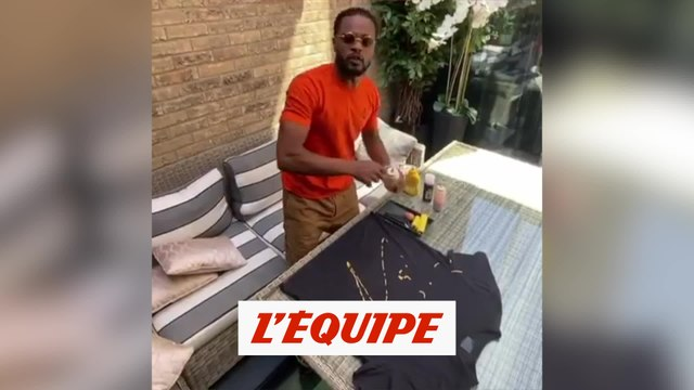 Quand Patrice Evra se prend pour Picasso - Foot - WTF