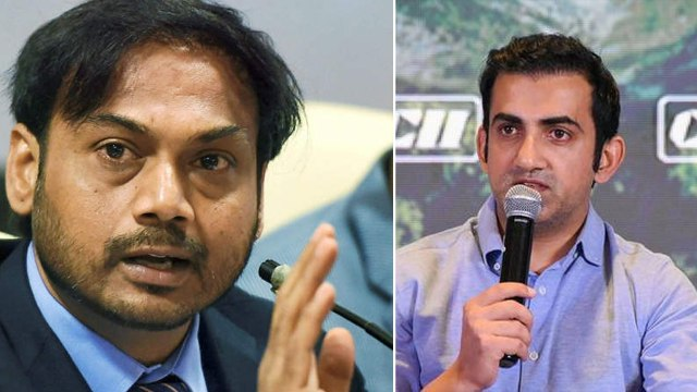 Gambhir , MSK Prasad in heated argument on World Cup 2019
