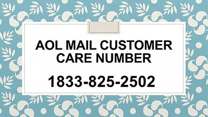 AOL Mail Customer Care Number #$@ 1833={825}=2502