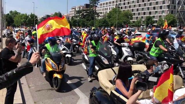 Manifestación convocada por VOX a la altura de Colón en Madrid