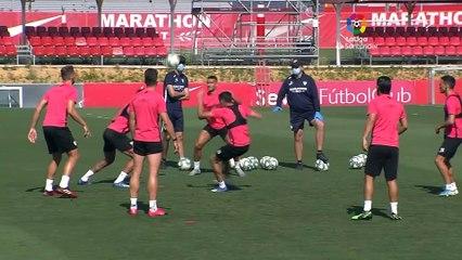 Entrenamiento del Sevilla FC en la ciudad deportiva
