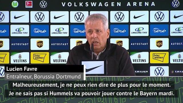 27e j. - Hummels incertain face au Bayern : Favre n'en dit pas plus