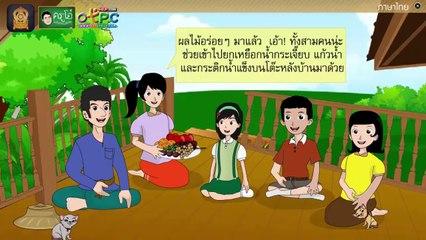 สื่อการเรียนการสอน แผนภาพโครงเรื่อง อย่างนี้ดีควรทำ ป.4 ภาษาไทย