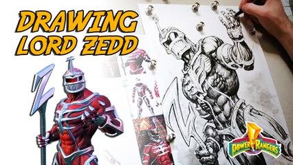 Drawing Lord Zedd - Timelapse | Freddie Williams II