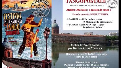 Les ateliers littéraires tango de Denise Anne Clavilier - Hommage à Carlos Gardel (Mano a mano)