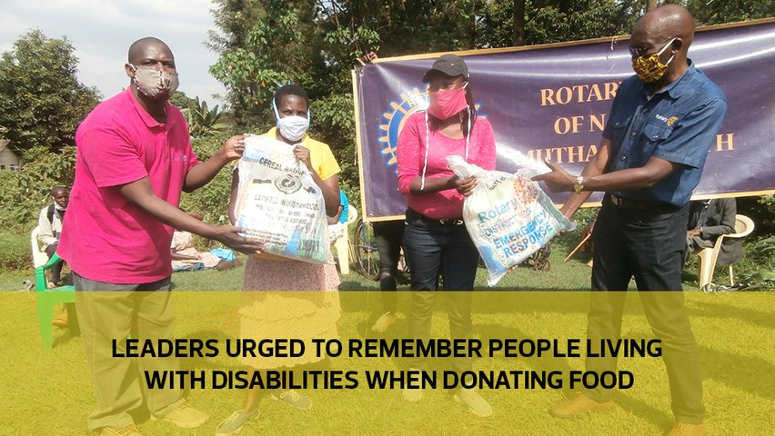 Leaders urged to remember people living with disabilities when donating food