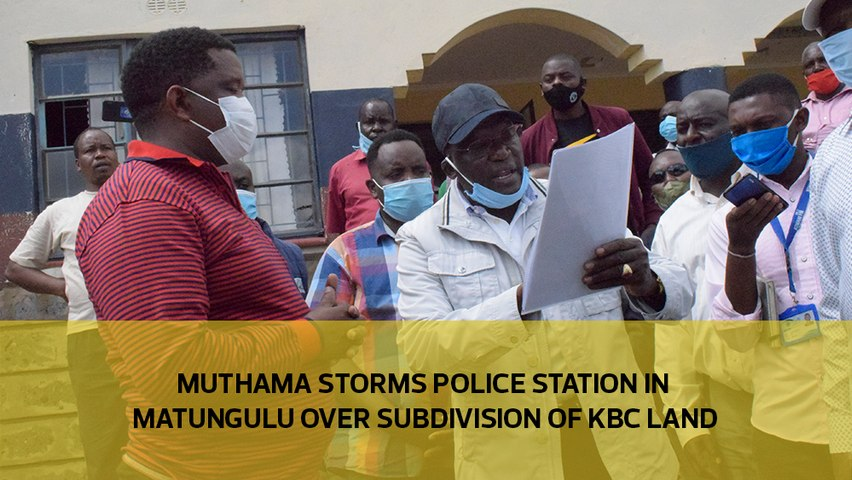 Muthama storms police station in Matungulu over subdivision of KBC land