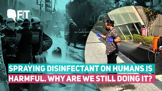 COVID-19 | Spraying Disinfectant On Humans: Effective Or Harmful?