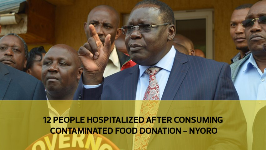 12 people hospitalized after eating contaminated food donation - Nyoro
