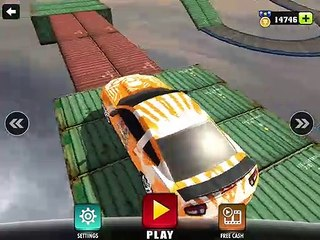 IMPOSSIBLE CAR EXTREME STUNT TRACKS 3D - Gameplay Walkthrough Part 27 - Hard Levels in Worst Cara