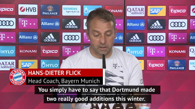 Bayern boss Flick impressed with Dortmund's January transfer business
