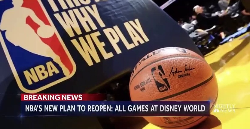 Keith Smith details Walt Disney World NBA Return on NBC News