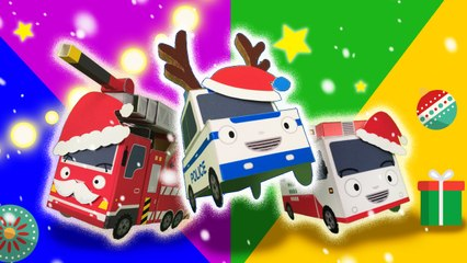The brave cars and it's Merry Christmas!  l Tayo's Sing Along Show l Tayo the Little Bus The brave cars and it's Merry Christmas