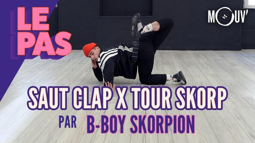 """Le tuto du """"Saut Clap x Tour Skorp"""" par B-Boy Skorpion"""