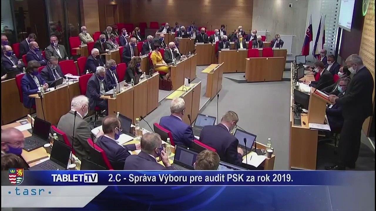 PREŠOV-PSK 20: Záznam zasadnutia Zastupiteľstva Prešovského samosprávneho kraja (PSK)