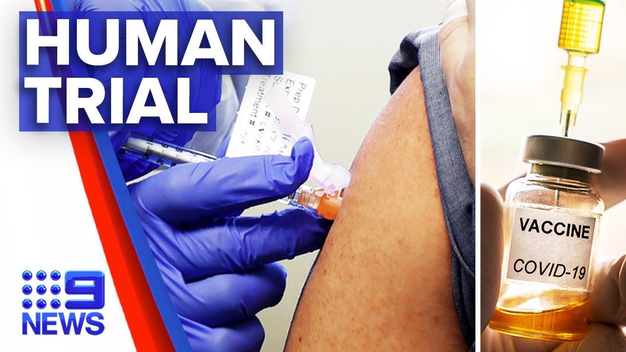 Coronavirus- Vaccine testing begins in Australia – Nine News Australia