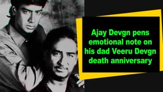 Ajay Devgn pens emotional note on his dad Veeru Devgn death anniversary