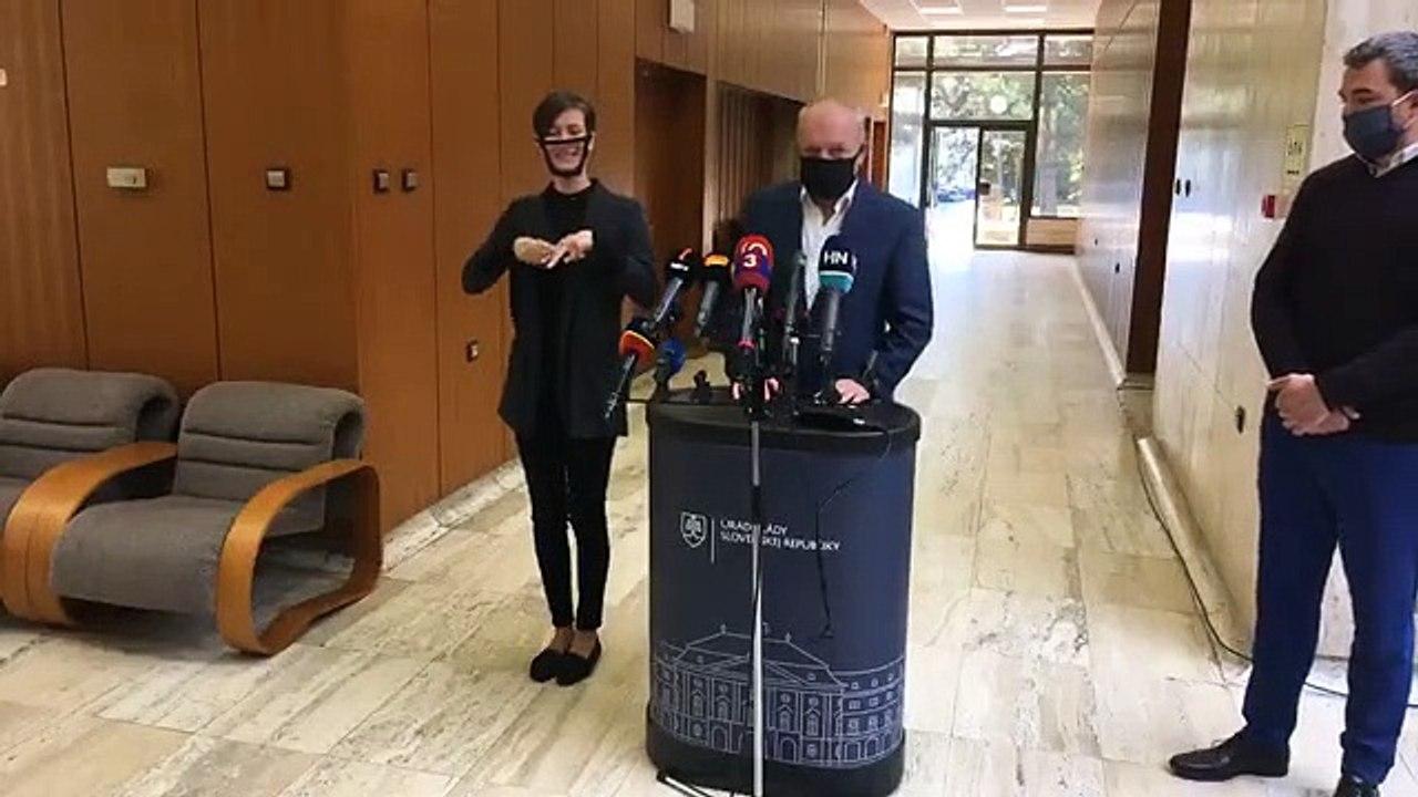 ZÁZNAM: Brífingy pred rokovaním Vlády SR