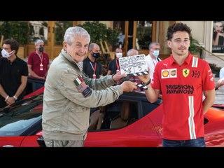 """Coulisses du  """"Grand rendez-vous"""" avec Charles Leclerc et la Ferrari SF90"""