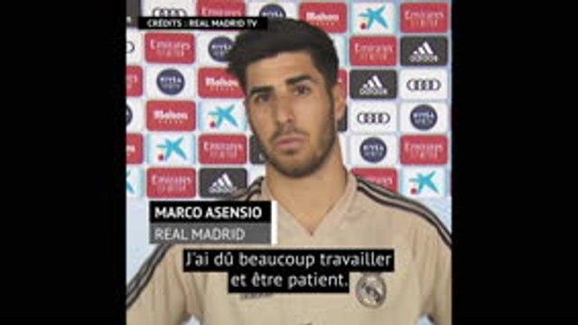 """Asensio (Real Madrid) : """"Je me sens bien"""""""