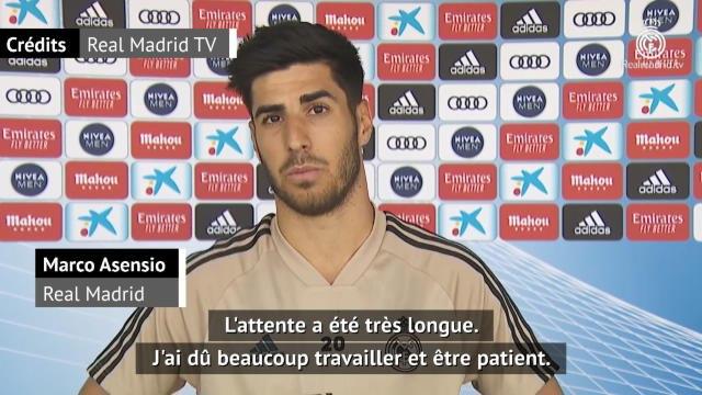 """Real Madrid - Asensio : """"Je me sens bien"""""""