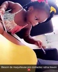 Rafna Houon, La fille de Dj Arafat s'improvise maquilleuse professionnelle et fait fondre la toile(vidéo)