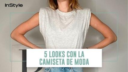 5 looks con la camiseta con hombreras de Mango más de moda del verano 2020