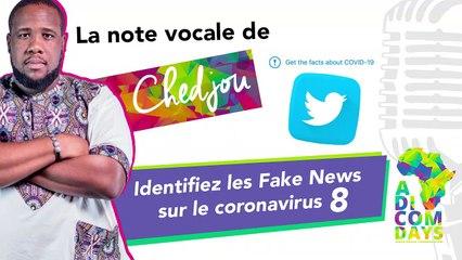 La note vocale de Chedjou #8 : Identifiez les Fake News sur le coronavirus