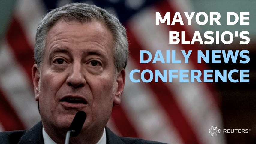 LIVE: Mayor Bill de Blasio gives an update on New York City's COVID-19 response