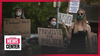 Protests break out due to the death of a black man in police custody in Minneapolis