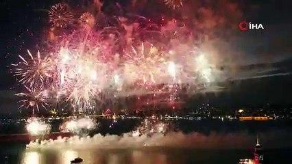 İstanbul'un fethinin 567. yıl kutlamalarında görsel şölen