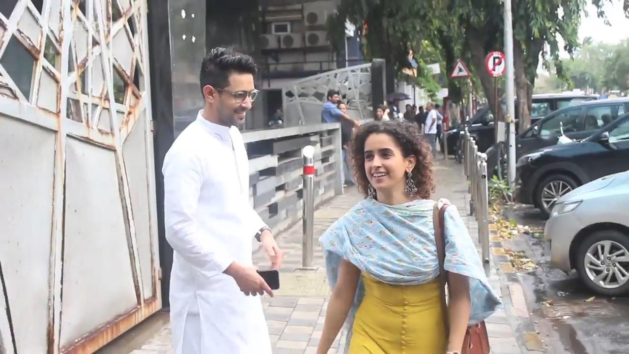 Cute Sanya Malhotra Offers Coffee To Paparazzi
