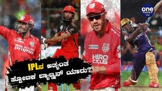IPLನಲ್ಲಿ ಈವರೆಗೂ ಅತಿ ಹೆಚ್ಚು ಸ್ಟ್ರೈಕ್ ರೇಟ್ ಇರುವ ಬ್ಯಾಟ್ಸ್ಮನ್ ಯಾರು ? | Oneindia Kannada