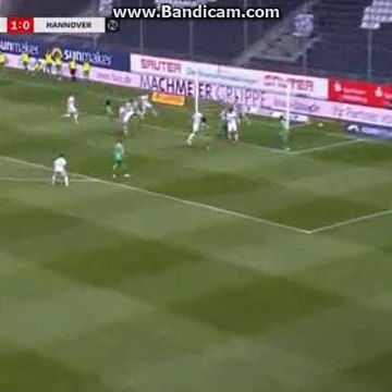 G. Nauber  goal  SV Sandhausen  2 - 0  Hannover 96
