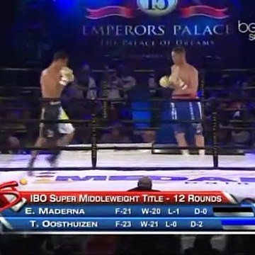 Thomas Oosthuizen vs Ezequiel Osvaldo Maderna (09-11-2013) Full Fight