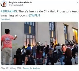 Belediyeyi Ateşe Veren Eylemciler